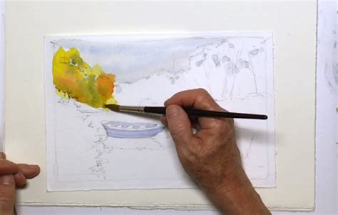 watercolor tutorial painting water fun lake scene teaches watercolor techniques for water