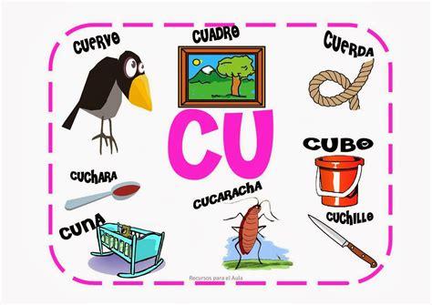 palabras con la letra c c ejemplos de palabras con c maestra de primaria palabras con ca co cu que qui