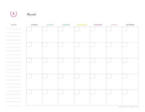 printable monthly planner free printable library simplified 174 by emily ley