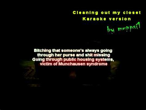 eminem cleaning out closet karaoke instrumental w
