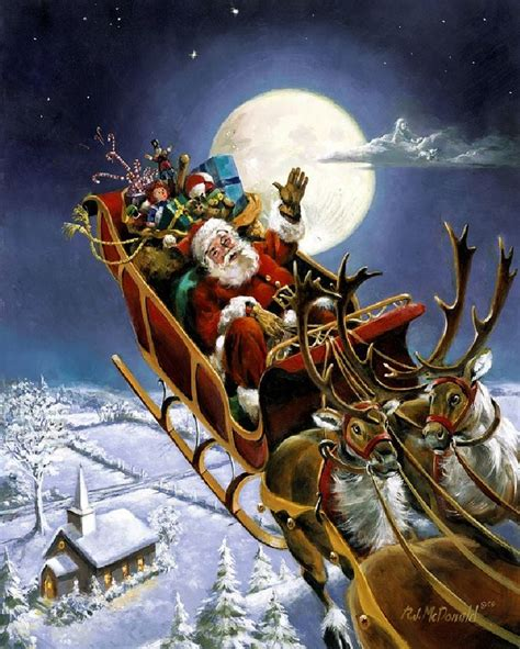 best art of santa and eight teindeer 46 best with santa claus and reindeer flying images on