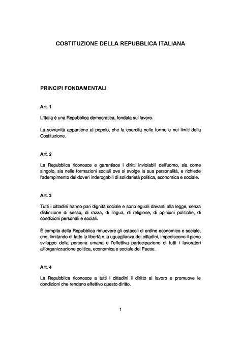 dispensa diritto pubblico costituzione della repubblica italiana dispense