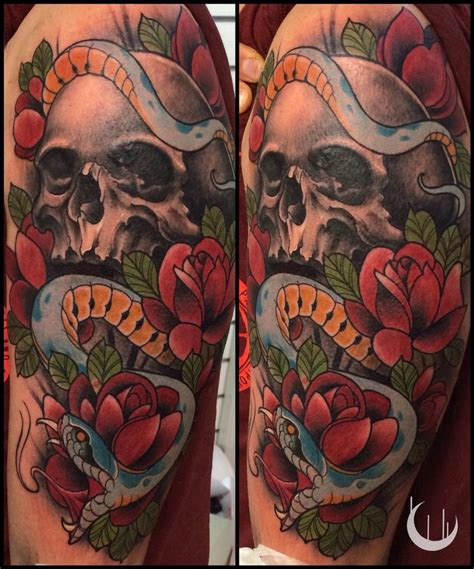 skull rose snake tattoo 23 best images about jason on wolf