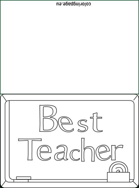 best teacher card coloring