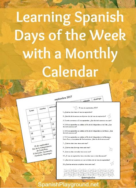 days of the week calendar questions