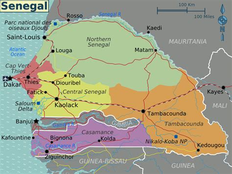 political map of senegal political map of senegal senegal political map vidiani