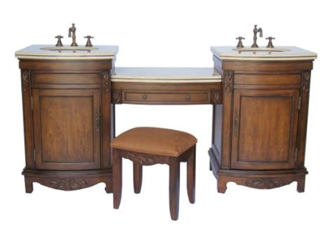 Bathroom Vanity With Dressing Table vanities 74 quot 4 pcs set bathroom sink vanity w