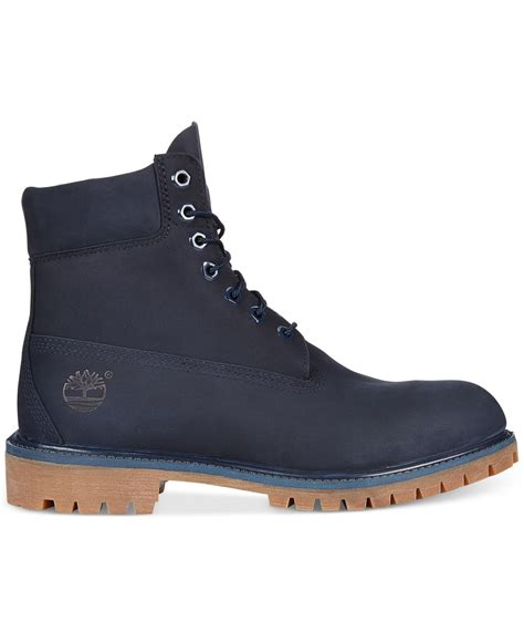 boots blue lyst timberland 6 quot premium boots in blue for