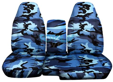 blue camouflage car seat covers 1991 2012 ford ranger 60 40 camo truck seat covers w