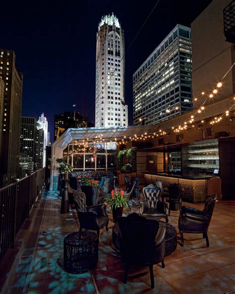 the roof top bar upstairs rooftop bar at the kimberly hotel nyc rooftop
