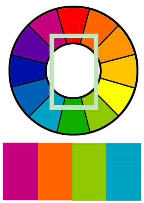tetradic color scheme d source colour interaction and color effects visual