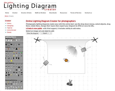 lighting diagram creator lets you easily save and