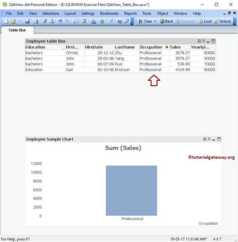 tutorial on qlikview creating table box in qlikview