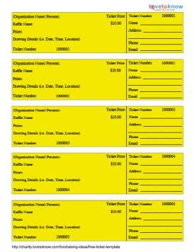 Free Ticket Template Lovetoknow Benefit Ticket Template Free