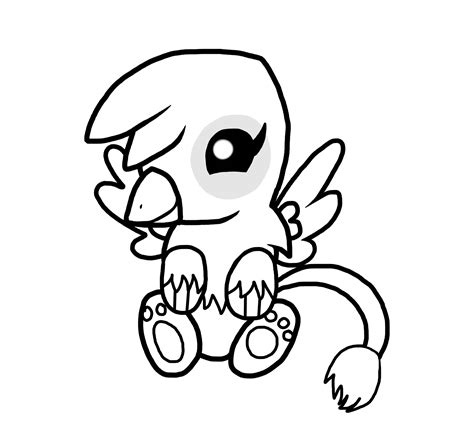 cute griffin coloring pages baby griffin color page by theshadowstone on deviantart
