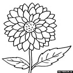 Galerry f is for flower coloring page