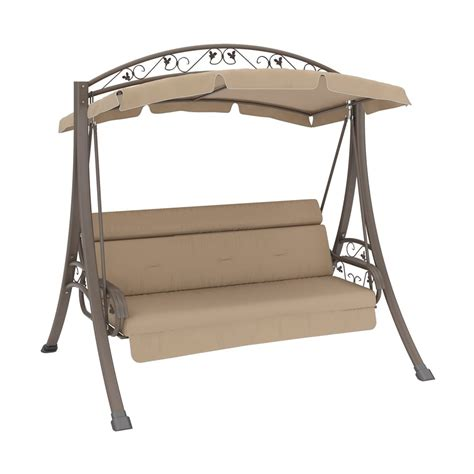 lowes outdoor swings corliving pnt 803 s nantucket patio swing with arched