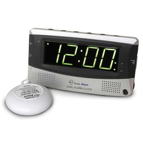 sonic alert sbd375ss dual alarm clock with bed shaker harris communications