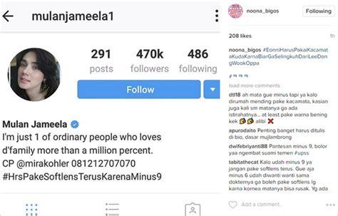contoh bio yang bagus di instagram tulis hashtag ini di bio instagram mulan jameela disindir
