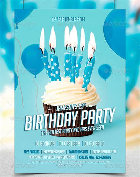 16 amazing birthday party psd flyer templates designs