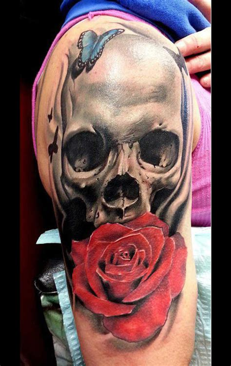 31 supreme skull rose tattoos gun candy