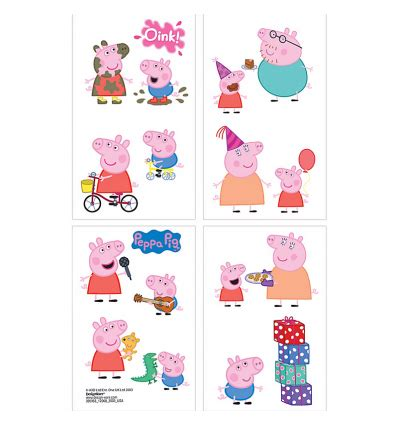 peppa pig tattoo peppa pig tattoos supplies in australia corner