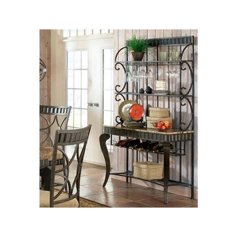 Dining Room Sets With Matching Bar Stools steve silver company hamlyn marble top bakers rack hl500br