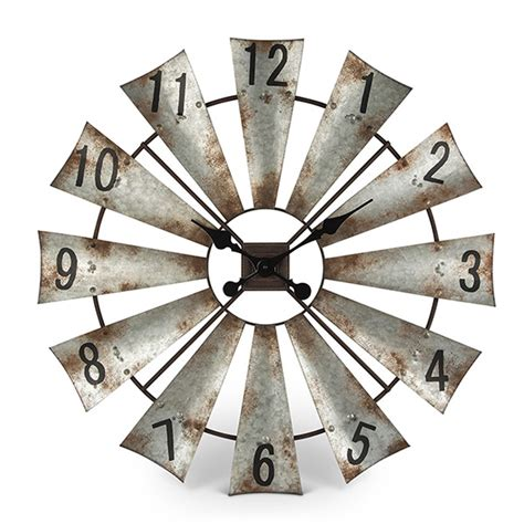 Rustic Kitchen Canisters lone elm studios windmill wall clock 93223