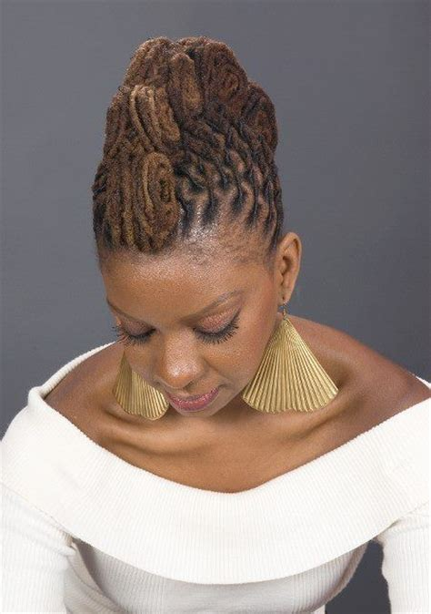elegant dreadlock hairstyles for women elegant loc hawk natural hair look at those partings