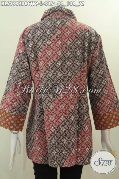 Kain Batik Handprint Bahan Doby 9 baju batik lengan tiga perempat bahan halus kain doby