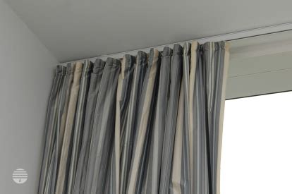 ceiling rails for curtains affordable ideas for covering a very large window