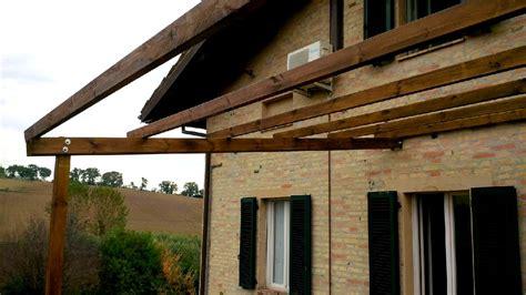 veranda 4x4 pergola in legno 4x4 addossata a muro tettoia veranda