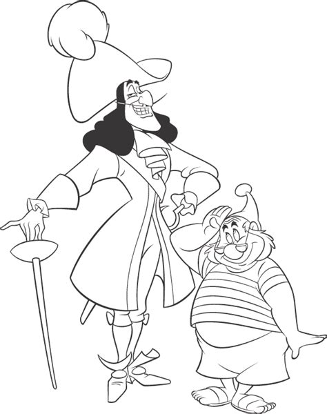 Disney Villains Coloring Page Captain Hook Disney Captain Hook Coloring Pages