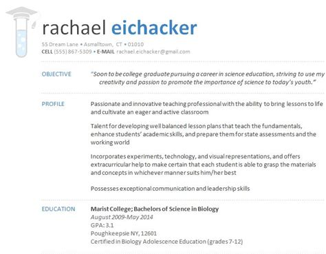 Example Of A Good Resume For A College Student by Resume Designs Dr Eyehacker