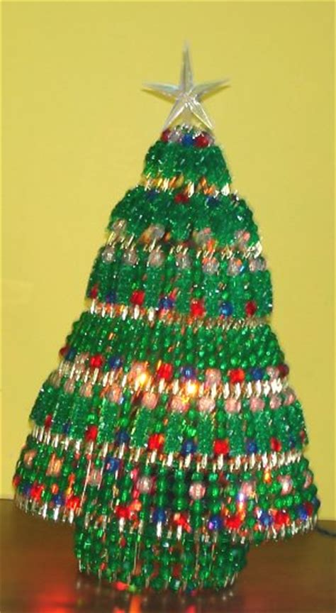 instructions for vintage safety pin christmas trees beaded tree kit