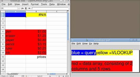 vlookup tutorial openoffice spreadsheet basics vlookup basic usage in openoffice calc