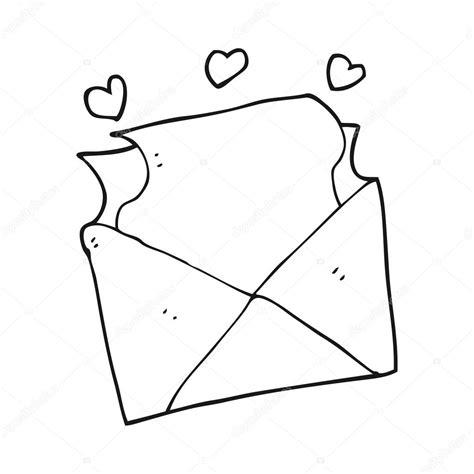 imagenes blanco y negro amor carta de amor de dibujos animados blanco y negro vector