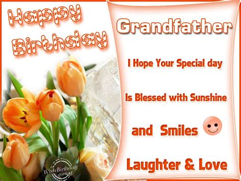 Birthday Greeting Cards For Grandfather Happy Birthday Grandfather Wishbirthday Com
