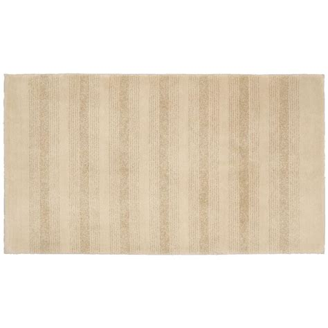 30x50 Bath Rug Garland Rug Essence Linen 30 In X 50 In Washable Bathroom Accent Rug Enc 3050 05 The Home Depot