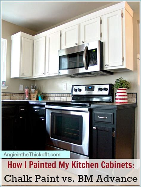 How Do I Paint My Kitchen Cabinets How I Painted My Kitchen Cabinets Chalk Paint And Benjamin Advance Diy Projects
