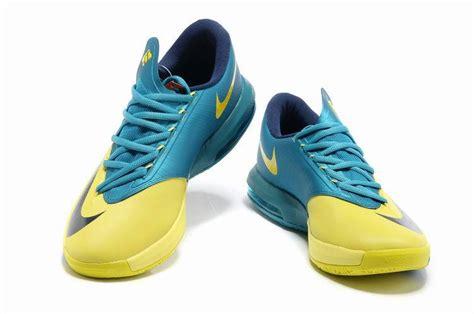 cheap nike kevin durant 6 shoes yellow blue black cheap