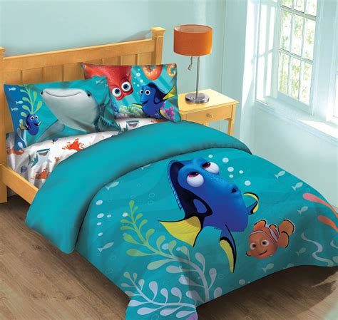 finding nemo bedding disney finding dory fish finder comforter set w fitted sheet