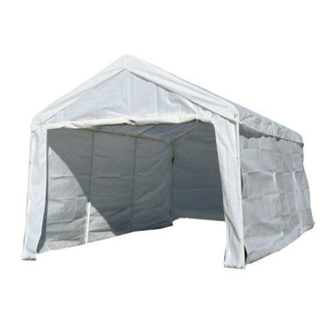 sportsman 10 ft x 20 ft white portable canopy pavilion
