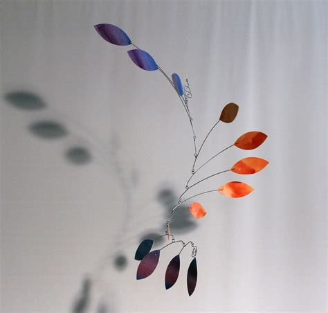 Ceiling Mobiles For Adults Adult Ceiling Mobile Kinetic Sculpture Calder Style Salmon N