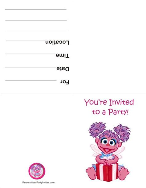 abby cadabby template abby cadabby free printable invitation thoughts