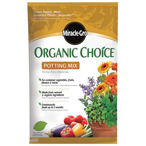 shop miracle gro organic choice 32 quart organic potting