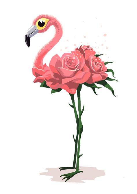 Flamant Rose Romain Lubi 232 Re Illustration Coloriage Flamant Rose L