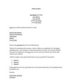 Follow Up Cover Letter by Cover Letter Templates