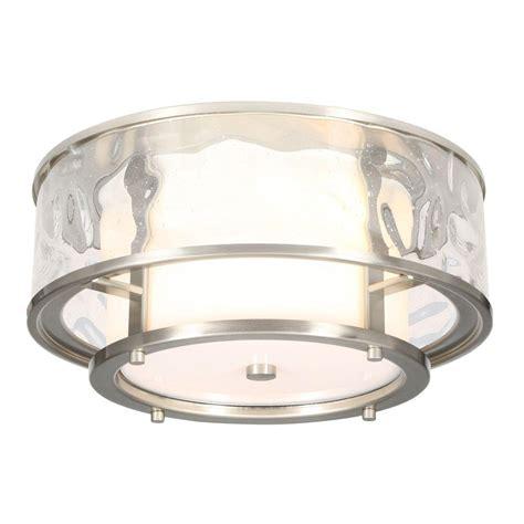 flush mount lighting progress lighting bay court collection 2 light brushed