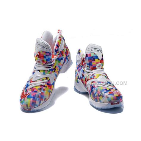 colorful basketball shoes nike lebron 13 quot prism quot multi color white price 91 00